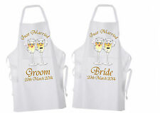 Personalised Wedding Breakfast Apron Ideal for Bride & Groom Mr & Mrs His & Hers