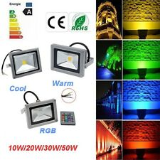 Waterproof 10W 20W 30W 50W RGB Led Flood Light Lamp 24key IR Remote Home Garden