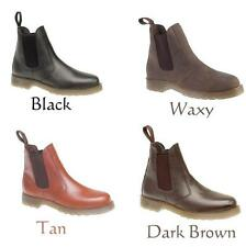MENS GENTS LADIES BOYS UNISEX LEATHER AIR CUSHION SOLE CHELSEA DEALER BOOT