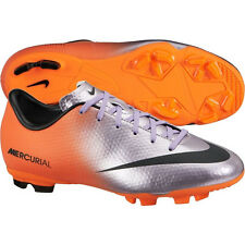 Nike Mercurial Victory IV FG 2014 Soccer SHOES New Chrome / Orange KIDS - YOUTH