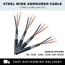 SWA CABLE ARMOURED CABLE 2.5mm CABLE 3 CORE CABLE PER METER,10M, 25M,50M or 100M