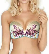 Wonderbra W00LA Basso & Brooke Ultimate Strapless Versailles Bra Light Green
