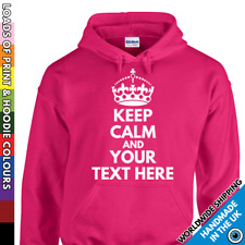 Kids Keep Calm Custom Hoodie Your Text Childrens Girls Boys Hooded Inspired Hood