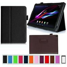 FOLDING STAND LEATHER CASE COVER SKIN HOLDER FOR SONY XPERIA Tablet Z2 10.1""