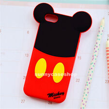 NEW 3D Ear Cute Mickey soft Silicone Case rubber cover for Apple iphone5s 4S