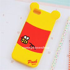 NEW 3D Cute Winnie the Pooh Silicone Case cover for Apple iphone 5s 4S galaxy S5