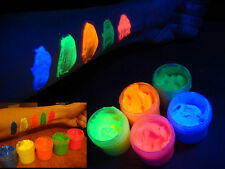 UV body paint fluorescent 5 color set blacklight neon glow non-toxic face