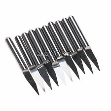 10 Carbide PCB Engraving Bits CNC Router Tool 20°Select Diameter From 0.1-1.0mm