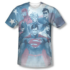 Justice League Of America United Team Picture Sublimation Front Only T-shirt Top