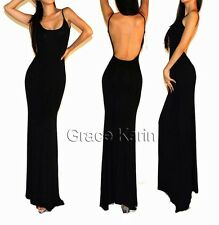 Occident Womens Long Evening Porm Dress Backless Back Sexy Cocktail Party Dress