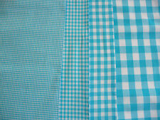 Cotton,By the metre,Fabric,Checked,Blue,White,Vichy check,Dress fabric,152 cm