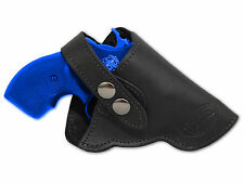 "NEW Barsony Black Leather OWB Gun Holster for Rossi, EAA 22 38 357 Snub 2"" Rev"
