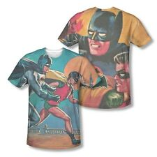 Batman Classic Let's Go Get Them 2-Sided Sublimation Poly Blend Shirt S-3XL