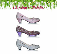 Christopher Natalia Girls Party Shoes Teenager young Lady bridesmaId Size 3-7