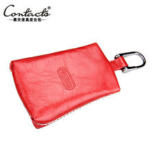 Unisex Genuine Leather Car Key Chain Holder Case Alloy Keychain Car key case bag