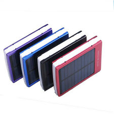 10000mAh Solar Power Panel USB External Mobile Battery Charger Power Bank