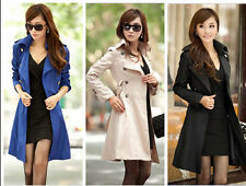 new Women spring Slim Fit ladies belt tunic trench long coat Outwear Jacket