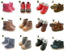 Kids Boots - Baby Boy Girl Winter Sheepskin Warm Shoes 3 month-Age 6 NEW IN BOX