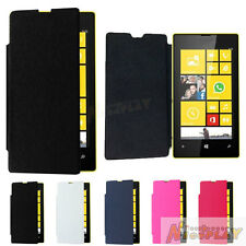 New Leather Cover Flip Back Battery Cover Wallet Case Guard For Nokia Lumia 520