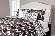 Plaid Men Blue and Brown Plaid Squares SIS Bed in a Bag Set Choose Size!!!
