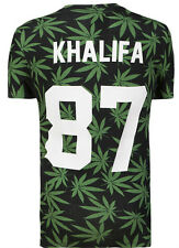 Tee Shirt Eleven Paris Homme **Back numbers** KHALIFA NUMERO 87 FEUILLES CANABIS