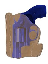 """New Barsony Tan Leather Pocket Holster Charter Arms, Colt 2"""" Snub Nose 38 357"""