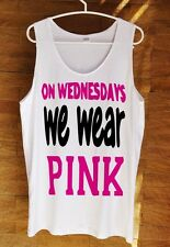 On Wednesdays We Wear Pink Mean Girls Shirt Hipster Tumblr Tank Top White S M L