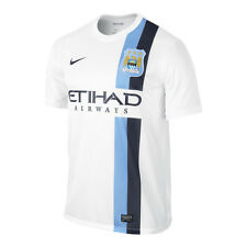 Nike Manchester City Season 2013-2014 Third Soccer Jersey Brand New White - Sky