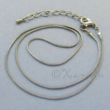 Dark Silver Snake Chain Necklace For Large Hole European Charm Beads