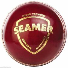 SG Seamer High Quality 2 Piece Red LEATHER Cricket Ball + AU Stock + Free Ship