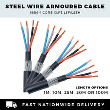 ARMOURED CABLE 6mm SWA CABLE 4 CORE SWA CABLE PER METER,10M, 25M,50M or 100M