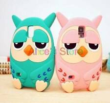 Cute 3D Cartoon Owl Soft Silicone Case Cover For Samsung Galaxy S5 SV i9600