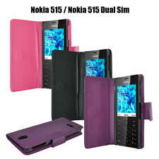 New Flip Wallet Case Cover For Nokia 515 Mobile Phone