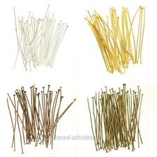 New 100Pcs Silver/Gold/Copper/Bronze Metal Head Pins Finding 15mm For Craft