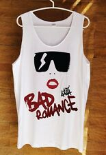 Hot Lady Gaga Cartoon Bad Romance T Shirt Swag Dope Hipster Funny Tank Top White