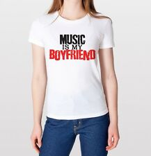 Hot Music Is My Boy Friend Trendy Funny Hipster Swag T Shirt Tumblr TShirt White