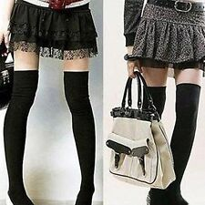 Womens Girls Soft Cotton Hosiery High Socks Over-knee Stockings Thigh High 2014