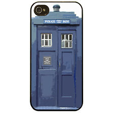 Cover for Iphone 4 4S Police blue public phone box cool Vintage retro phone case