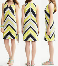 NWT Banana Republic Milly Collection Sleeveless Chevron Stripe Dress