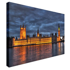 City scene London Houses of Parliament Canvas Wall Art Print Large + Any Size