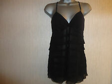 BNWT Ladies Dressy Black Padded Bust Top Various Sizes By Todays Woman RRP £33