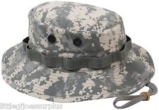 ACU CAMO Military Tactical RIP-STOP Wide Brim Bucket Hunting Boonie Hat 5869