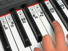 Solfège Solfege Piano Music Note Stickers - Do-Re-Mi Learn Keyboard Labels Decal