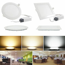 Bombilla de techo 9W 12W 15W 18W 21W brillante CREE LED empotrable Panel Light