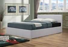 Happy Beds Brooklyn Ottoman Contemporary Leather Bed Bedroom Furniture Home New
