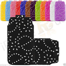 Leather Diamond Glitter Pull Tab Case Cover Skin For Samsung Galaxy Alpha