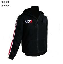 Mass Effect 3 N7 Hoodie 100% Cotton Cosplay Thin Coat Costume Jacket M-XXXL