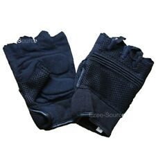 MENS WOMENS MOTORCYCLE DRIVING FINGERLESS GLOVES w/GEL PALM ANTI VIBRATION - K1R