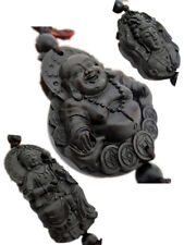 Black Rosewood Carving Chinese BUDDHA Collection Statue FENG SHUI China Art