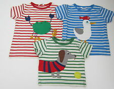 BODEN CUTE SEASIDE APPLIQUE S/S COTTON TEE SHIRT CRAB-DOG-SEAGULL  BNWOT